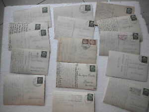 GERMANY Deutsches Reich Stationery 6 Cents Postcard 1940's Nazi Germany Lot -15