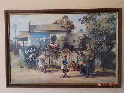 "Australian Print titled ""Big Ring"" by D'Arcy W. Doyle framed"