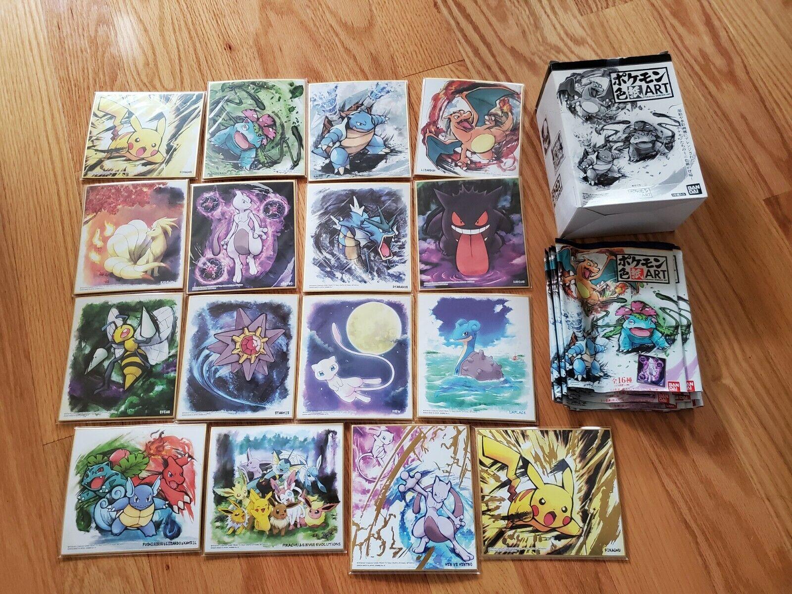 Pokemon Shikishi Art Series 1 Complete Set 16 Boards With Box Charizard