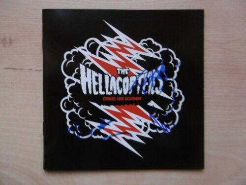 """The Hellacopters Autogramme signed CD-Cover EP """"Strikes Like Lighning"""""""