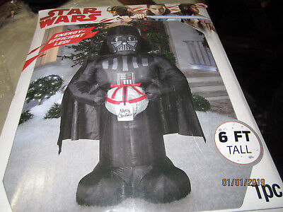 GEMMY CHRISTMAS STAR WARS 6' DARTH VADER LED INFLATABLE NIB - Star Wars Christmas Inflatables