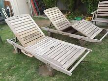 2 Old Jarah Outdoor Sun Lounges Beckenham Gosnells Area Preview