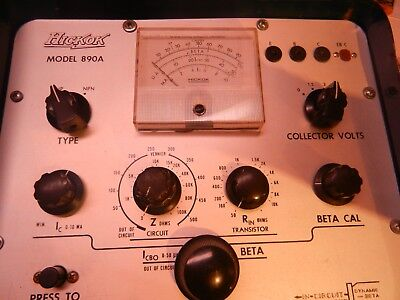 Hickok Transistor Tester Model 890a In-circuit Dynamic-beta