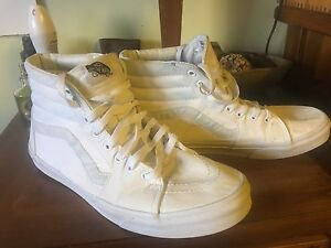 Size 11 classic all white Vans Hi-tops Wishart Brisbane South East Preview