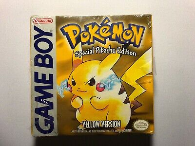 Nintendo Gameboy Pokemon YELLOW VERSION Pikachu Special Edition Complete Sealed