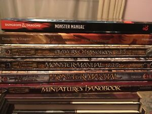 Various Dungeons and Dragons books