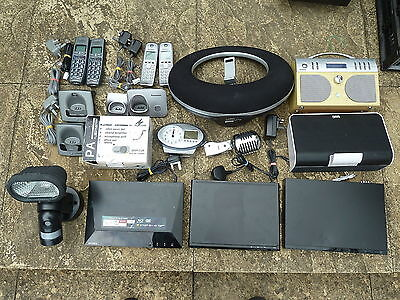 JOB LOT AV ACCESSORIES Untested Faulty iPod Dock DAB Cordless Phone Bluray DVD