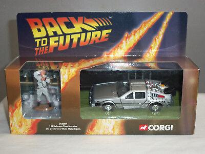 CORGI CC05501 BACK TO THE FUTURE DELOREAN TIME MACHINE CAR + DOC BROWN