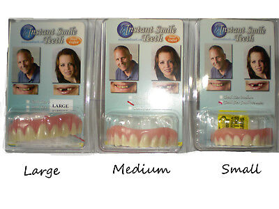 SECURE INSTANT SMILE TEETH Fake False Artificial Teeth Dental Veneer CHOOSE -