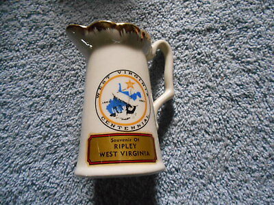 SMALL PITCHER -1863 - 1963 WEST VIRGINIA CENTENNIAL - MADE IN THE USA