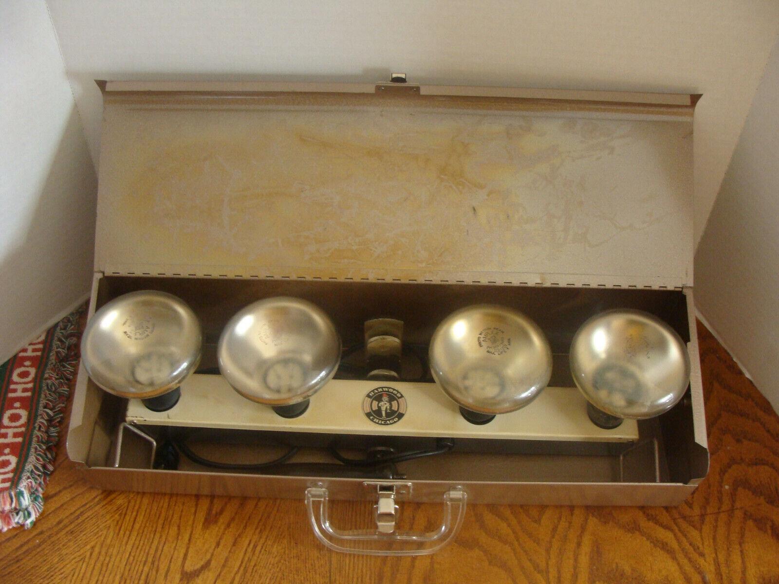 VTG Harwood Chicago 4 Light Movie Photography Light Bar W/Metal Carrying Case  - $5.00