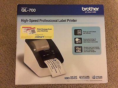 Brand New Brother QL-700 Label Thermal Printer Professional High-Speed Fast Ship