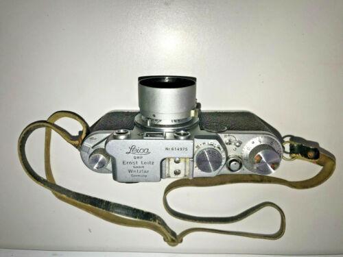 leica 2f rangefinder 35mm camera with Leitz Elmar f= 5cm 1:3.5 lens  REDUCED