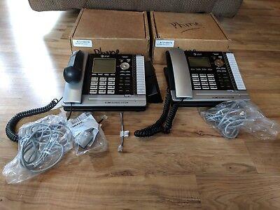 Lot Of 2 Att At315807b Panther 18d Black 4 Line Business Phones Model Ms2085