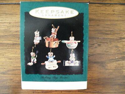 Hallmark 6 Miniature Christmas Ornaments BAKING TINY TREATS/1994/NEW BOX