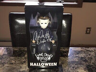 Halloween Signed Michael Myers Movie Living Dead Dolls Action Figure Nick Castle