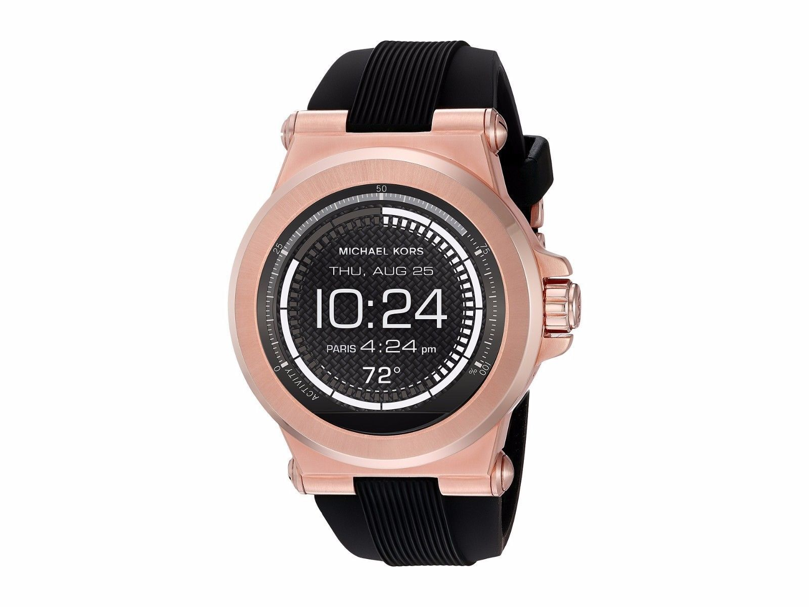 156589673cb2 Michael Kors Access Touchscreen Rose Dylan Smartwatch MKT5010 Silicone Band  for sale online