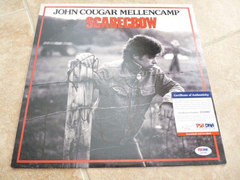 John Cougar Mellencamp Scarecrow Signed  Autographed LP PSA Certified