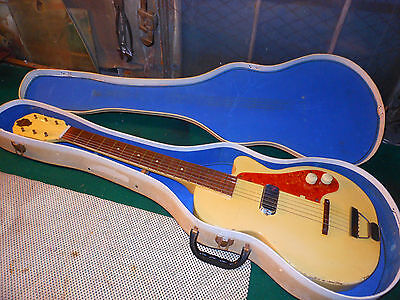 1952 Vintage Guitar Orpheum Stratotone Neck Thru Blond Amazing Cool Kay
