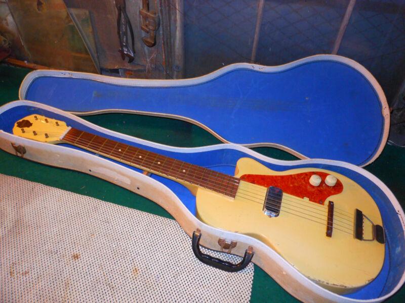 1952 Vintage Guitar Orpheum Stratotone Neck Thru Blond Amazing Cool Kay