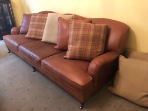 Ralph Lauren three-four seat sofa leather couch Essendon Moonee Valley Preview