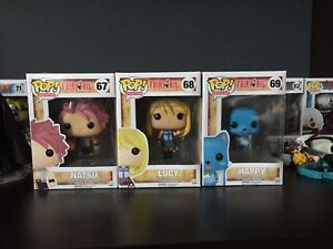 FairyTail Natsu, Lucy, Happy Pop figures SET