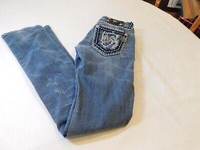 Jeweled Damen Jeans (Miss Me Jeans Damen Jeans 26 JE5152T8L Gerade Gebrauchte Jeweled Fehlender)