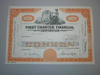 First Charter Financial Corporation, Historische Aktie