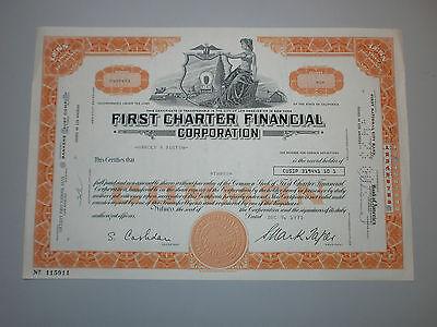 First Charter Financial Corporation, Historische Aktie