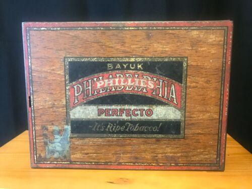 Bayuk Perfecto Philadelphia Phillies Ripe Tabacco Tin- EMPTY