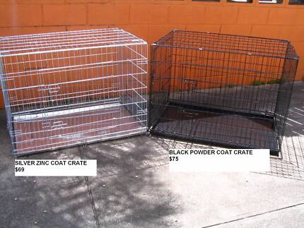 NEW XXL Collapsible Metal Dog Puppy Cage Crate with metal tray Coorparoo Brisbane South East Preview