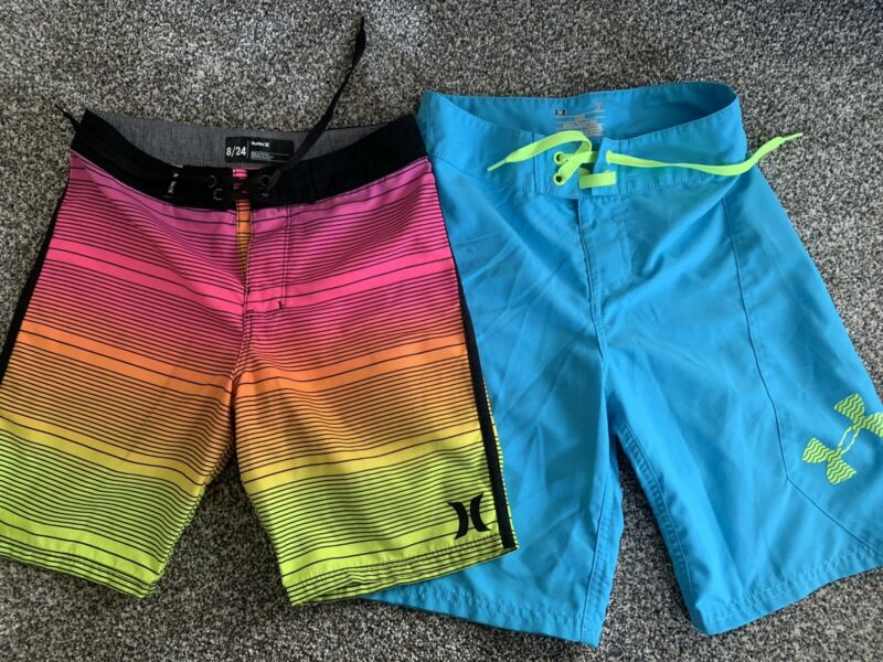 Youth Boys Board Shorts Size 23 Size 24 Hurley Under Armour