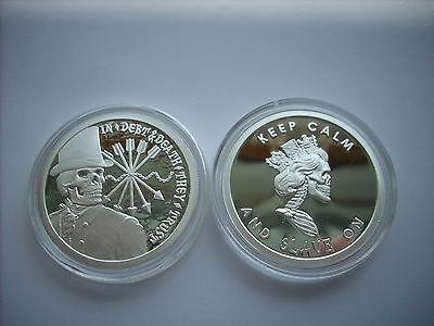 1 Oz Silver Coin  Proof  Double Obverse Debt And Death Slave Queen Original Sbss