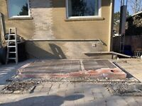 Wanted person to break and remove. Concrete slabs