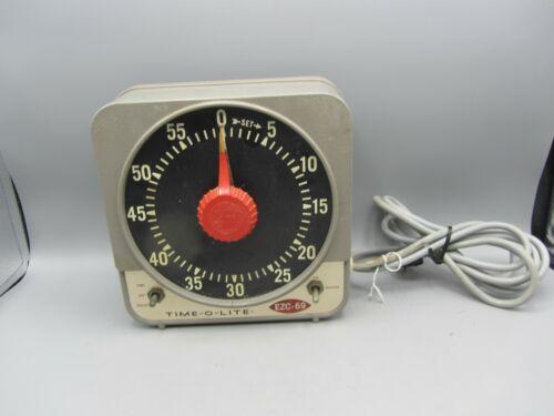 Vintage Time-O-Lite Model EZC-69 Darkroom Timer 2-Prong Plug - Tested