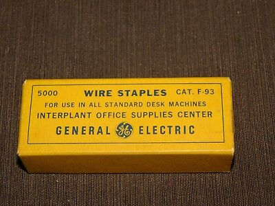Vintage Desk Ge General Electric Wire Staples Cat. F-93