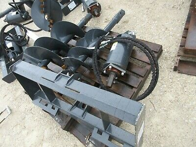 New Skidsteer Hydraulic Auger Post Hole Digger 12 18 Bits Skid Steer