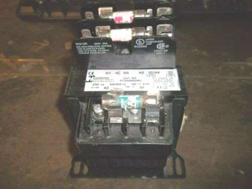 HAMMOND PT200MQMJ TRANSFORMER 200 VAC 50/60 HZ 80 RISE (P4)
