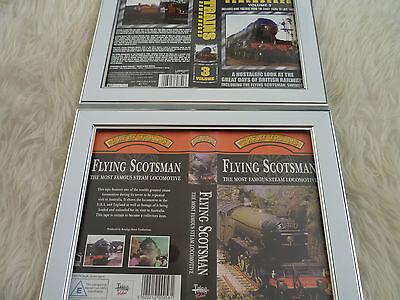 Flying scotsman steam & trains remembered vol 3 Bundle Cover Vhs sleeves Framed