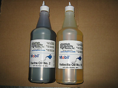 1 Quartea Mobil Way Oil Vactra 2 Spindle Oil Velocite 10 Mill Lathe Grinder