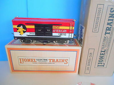 LIONEL CORP STD GAUGE BY MTH 11-30113 214 STD GAUGE CIRCUS BOX CAR.. W/ ORIG BOX