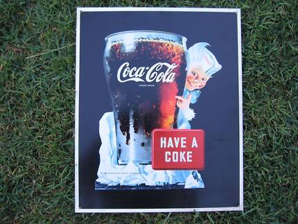 Coca Cola metal plaque from the 90's. Strathpine Pine Rivers Area Preview