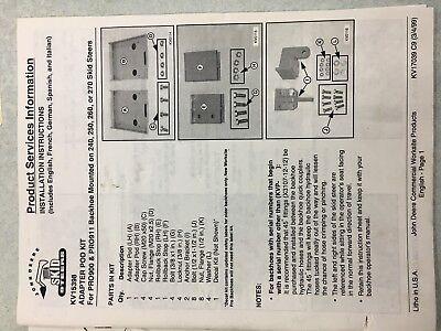 John Deere Adapter Pod Kit For Pro 900 And 911 Backhoe Kv15398