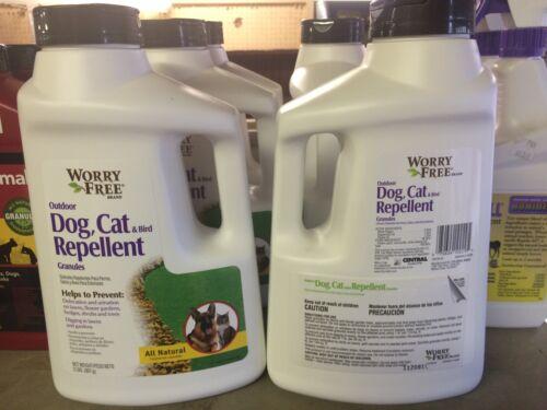 Worry Free Dog, Cat and Bird Repellent 2 Lb shaker, Granule
