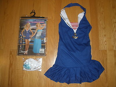 NEW WOMENS SUPER SEXY 3PC MERMAID/SAILOR 2 IN 1 HALLOWEEN COSTUMES SIZE LARGE