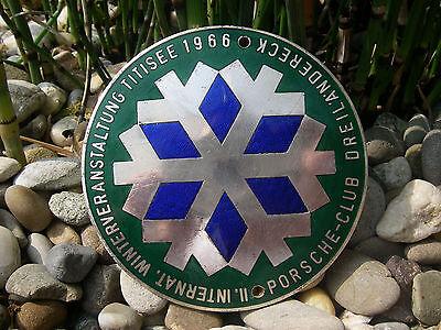 vintage PORSCHE CLUB DREILÄNDERECK - WINTEREVENT BLACK FOREST TITISEE 1966 Badge