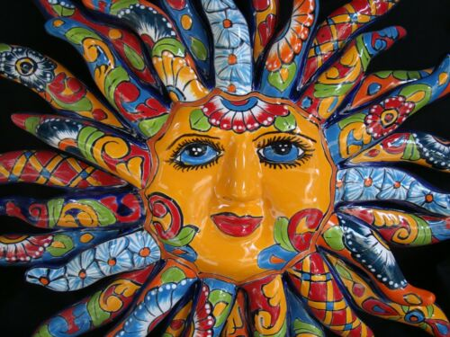 Sun Face Talavera, wall Sol, by Gerardo Garcia Mexican art
