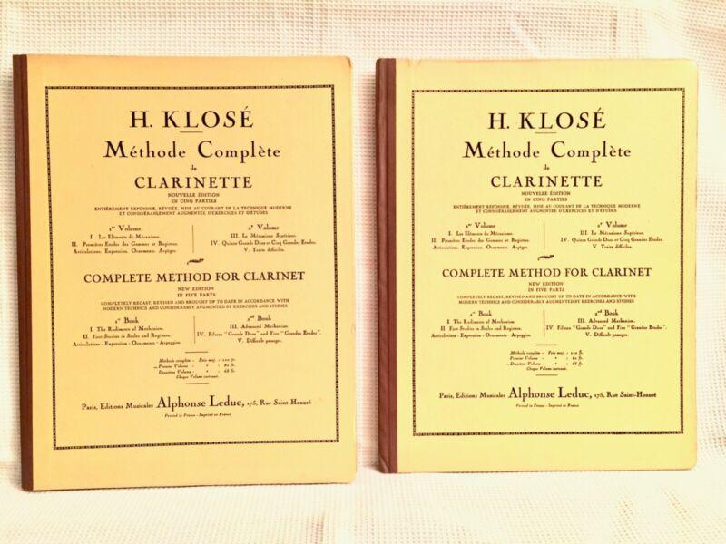 Klose Clarinet Method - Hard Cover by Alphonse Leduc Vol. 1 & 2