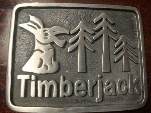 Timberjack Forest Donkey Belt Buckle Solid Pewter Metal Very Sturdy