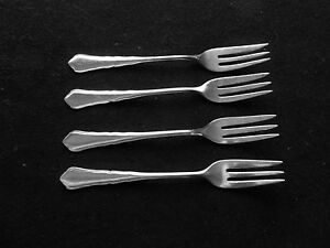 wmf 90 silverplated made in germany set of 4 cake forks. Black Bedroom Furniture Sets. Home Design Ideas
